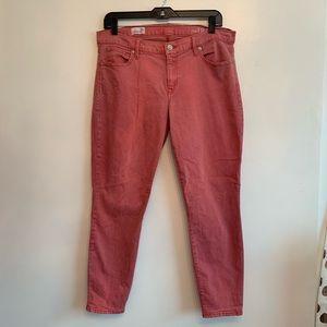 Gap vintage red pink jegging skinny jean denim
